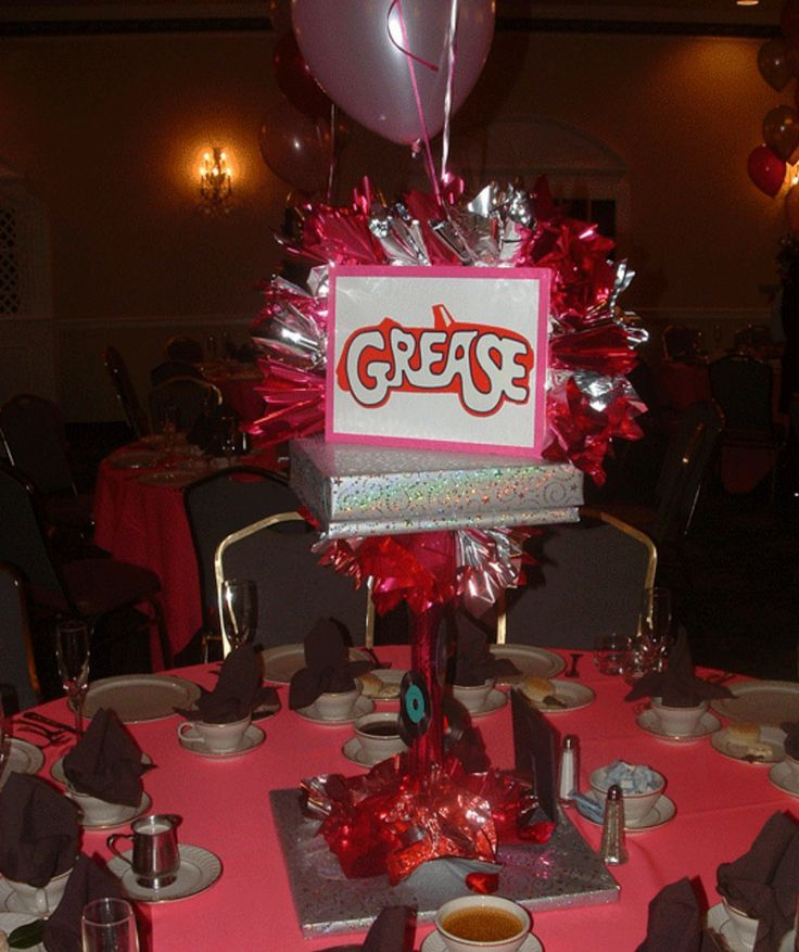 grease themed party favors