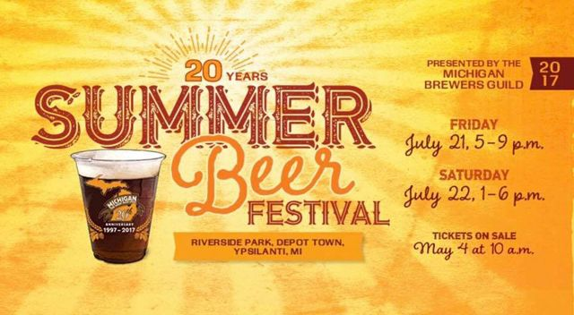 The 20th Annual Summer Beer Festival will host more than 100 Michigan breweries sampling around 1,000 different craft beers.