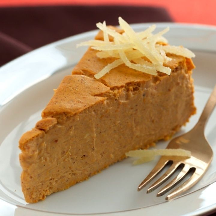 Crustless Pumpkin Cheesecake-This is an easy, delicious, perfectly spiced recipe for a great cheesecake. It is a healthy recipe also. It is a low fat, low carbohydrates, low sugars, (1) Carb Choice and Weight Watchers (3) PointsPlus+ recipe. Makes 12 servings.