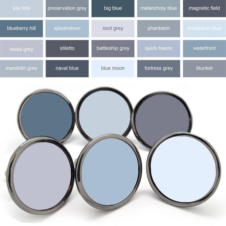 Grey Colourful Cupboard Door Knob Drawer Handles