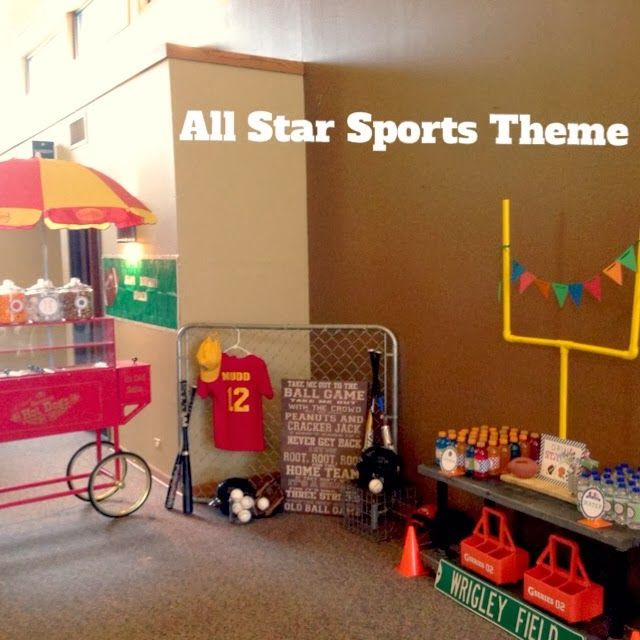 We Celebrated My Son Caydens Birthday With An All Star Sports Theme Party He Loves So This Was The Perfect T