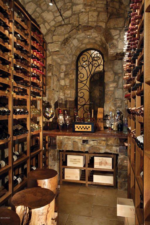 Vintage Style Stone Wine Cellar