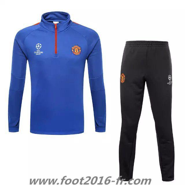 la boutique officiel Survetement football de foot Manchester United Blue 2015 2016 vintage