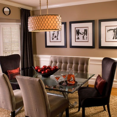 Brown Dining Rooms Design, Pictures, Remodel, Decor and Ideas - page 25
