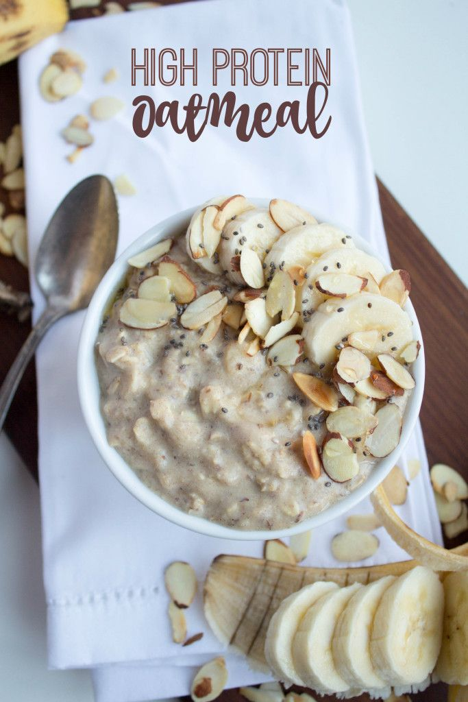 Oatmeal not keeping you full in the morning? Try this High Protein Oatmeal recipe instead. Makes the perfect fast and satisfying breakfast!