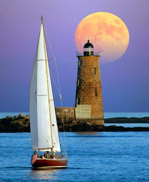 Whaleback Lighthouse, Maine, USA