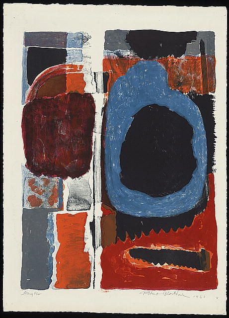 Faux Pas (ca. 1960-1963) Robert Blackburn who for many years ran the Printmaking workshop in NYC. An un-sung hero.