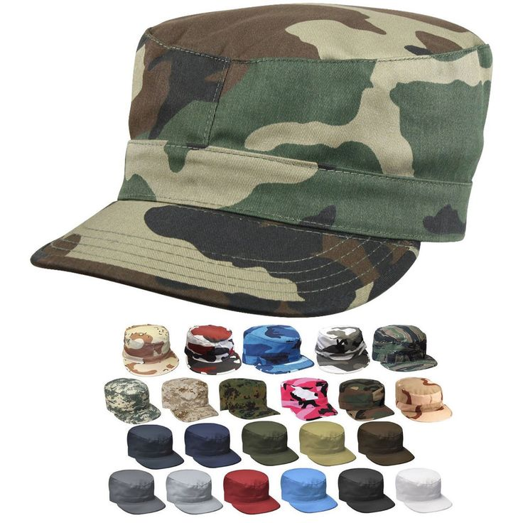 Military Fatigue Cap Tactical Uniform Hat Army Field Patrol Camouflage Fitted #Rothco #FatigueCap