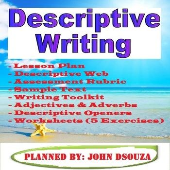 Descriptive writing lesson and worksheets Learning objectives - lesson plan objectives