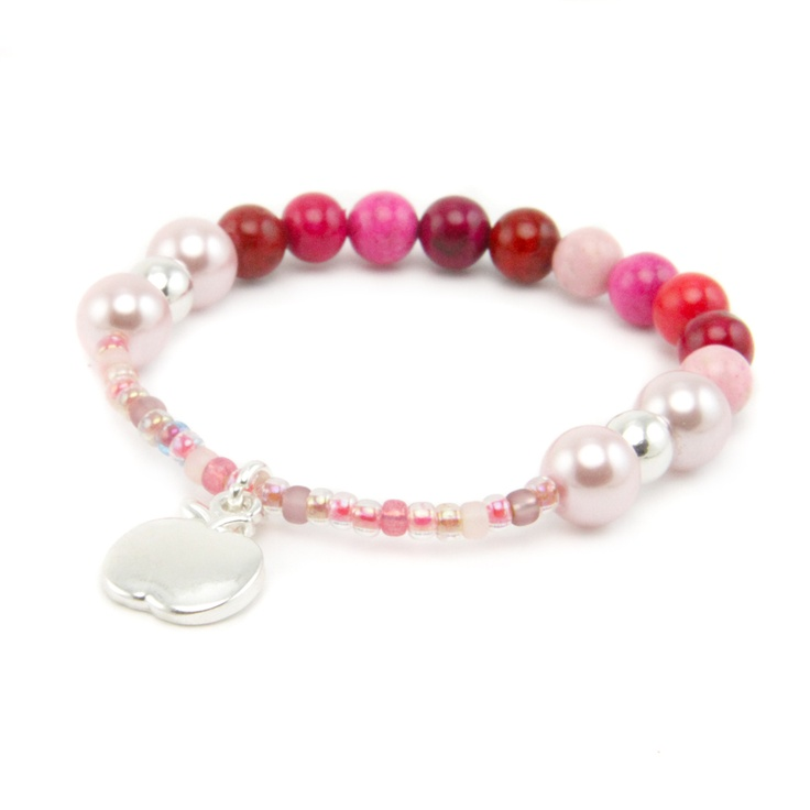 Berries Beaded Bracelet Pippin Kit in Raspberry RRP £7.99 from Burhouse Beads