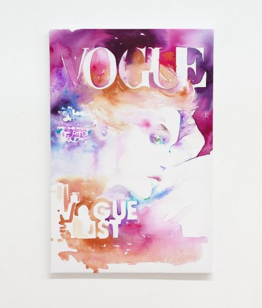 Vogue Cover List Canvas Wall Print-designed by Catherine Parr sold by Home @ Abode