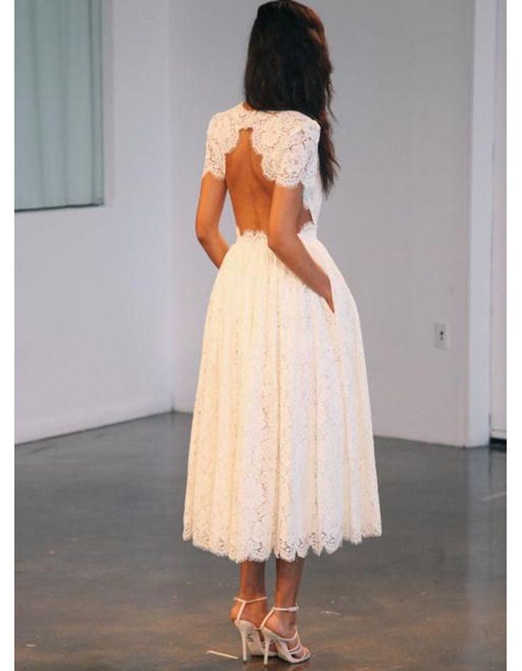 Robe de mariée princesse courte