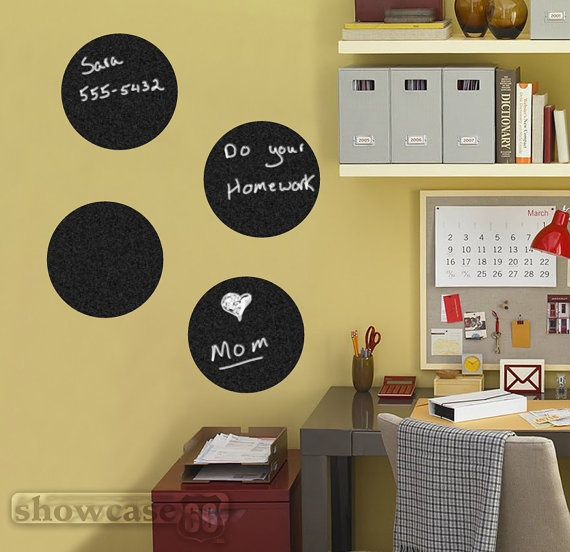 Chalkboard Circle Decals Kid S Spaces Pinterest