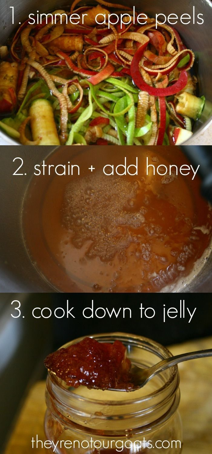 Apple-Honey Jelly (Made From Peels & Cores