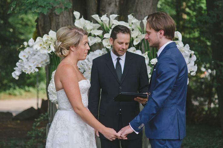 Erin & Matt — Full Bloom - cottage - ceremony