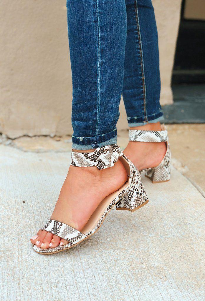 So cute! | Heels, Snakeskin heels