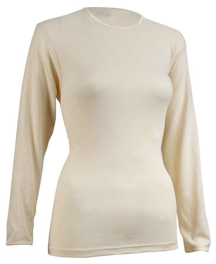 Rosette Women's Long Sleeve Undershirt, Smooth and Seamless, 100% Cotton, Large, Ivory. SUPER COMFORTABLE WITH SEAMLESS FABRIC - 100% Cotton Long sleeve undershirts are being famous to be breathable, moisture and vapor absorber. Its fabric allows for all day wear during any type of activity as it keeps you comfortably dry. The seam less design benefits to Not Show Out from your top - Wicks off Moisture - Moves with the Body while being active in sports or in gym. EXTREMELY FUNCTIONAL…