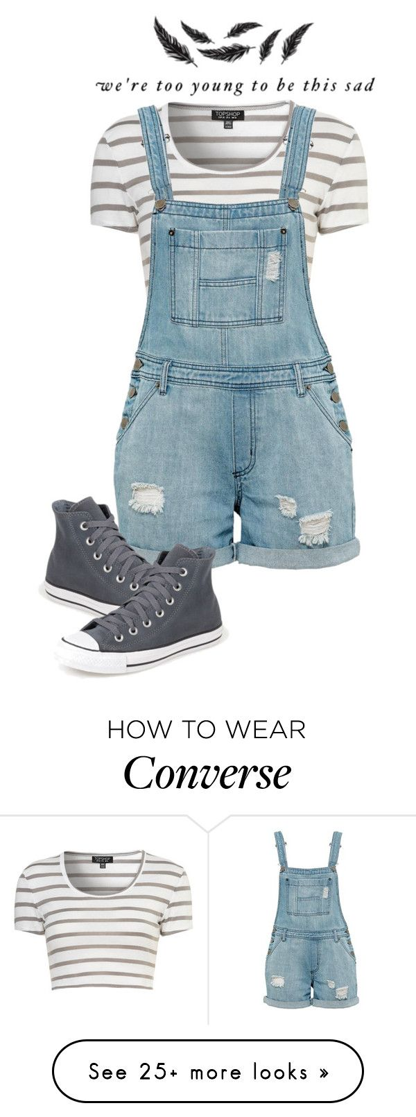 """Too Young"" by lily1996x on Polyvore featuring Converse"
