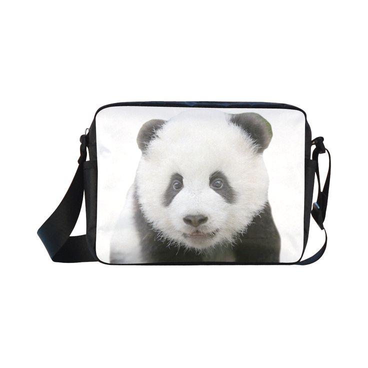 Panda Bear Classic Cross-body Nylon Bag. FREE Shipping. #artsadd #bags #panda