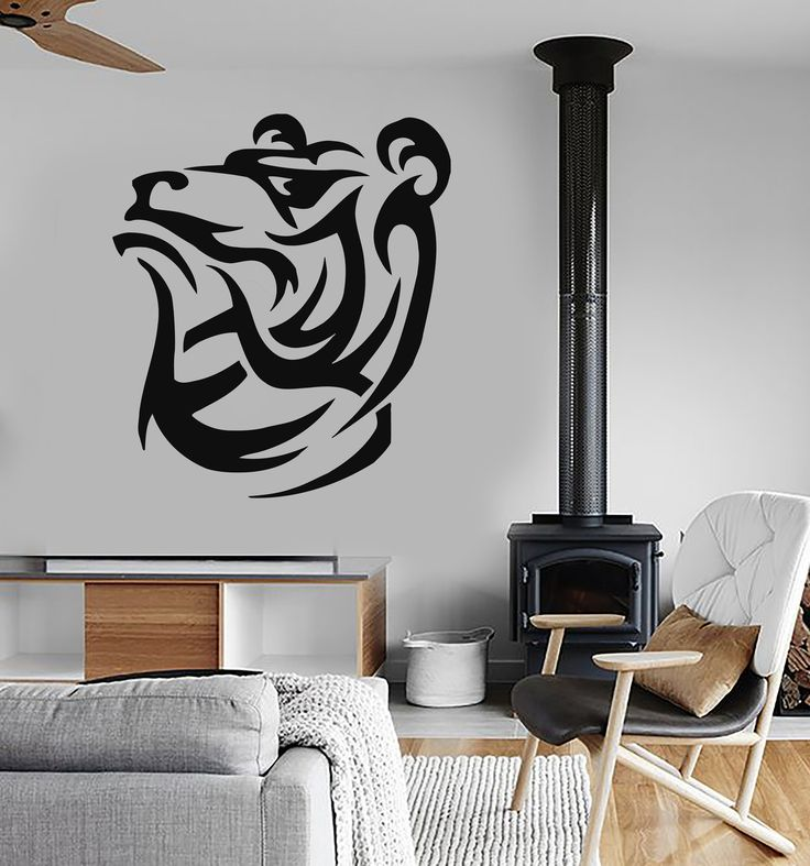 Wall Stickers Vinyl Decal Grizzly Bear Animal Tribal Decor Mural (ig265)