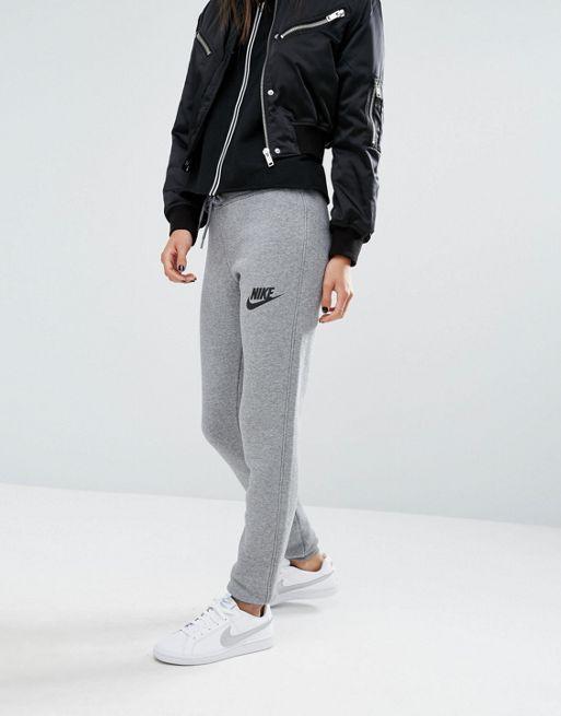 Pantalones de chándal de corte slim Rally de Nike Ther/gris oscuro/negro Mujer