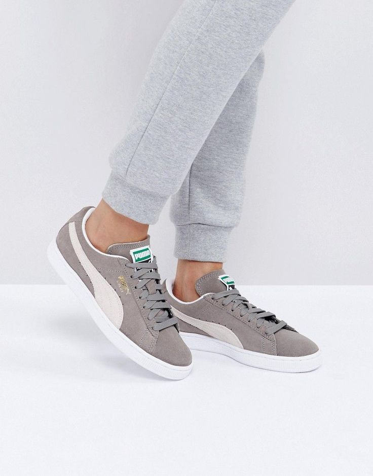 PUMA SUEDE CLASSIC SNEAKERS IN GRAY - GRAY. #puma #shoes #
