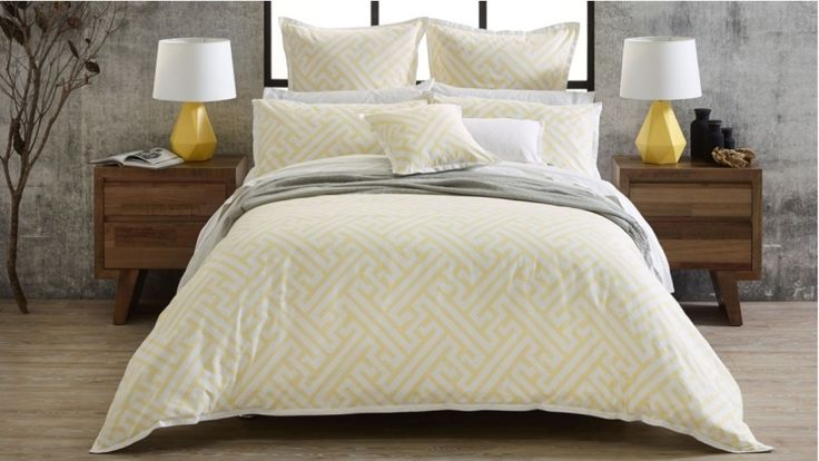 Florence Broadhurst - Chinese Key Yellow King Quilt Cover Set (Harvey Norman)