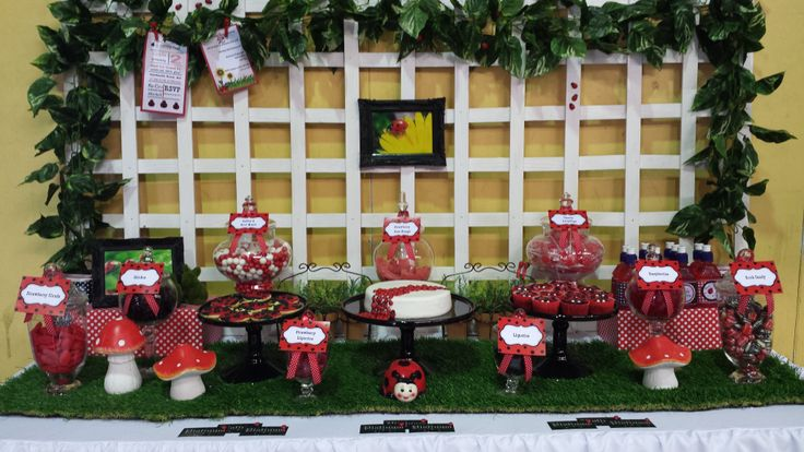"""Lady Bug"" Candy Buffet All Styling By"" Platinum Invitations & Candy Buffets"