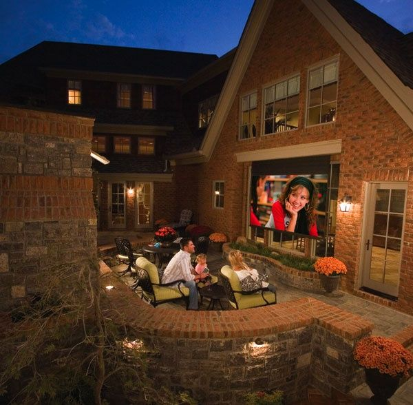 The experts at Wired by Design can create your dream custom home theatre indoors or out! http://wiredbydesignwpg.com