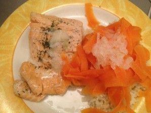 Pavé de saumon vapeur, sauce échalote vin blanc au thermomix - Recettes et gourmandises de Diane