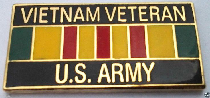 ** VIETNAM VETERAN US ARMY ** Military Veteran Hat Pin P15627 EE