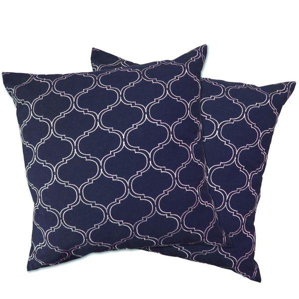 Lush Decor Trellis Zipper Throw Pillow Shell - Overstock Shopping - Great Deals on Lush Decor Throw Pillows