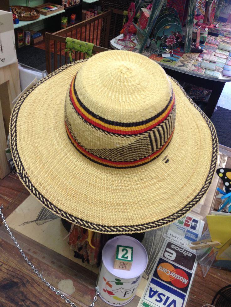 Elephant grass (Bolga) - hats.  Great for gardening!  Keeps the rain and sunshine off.