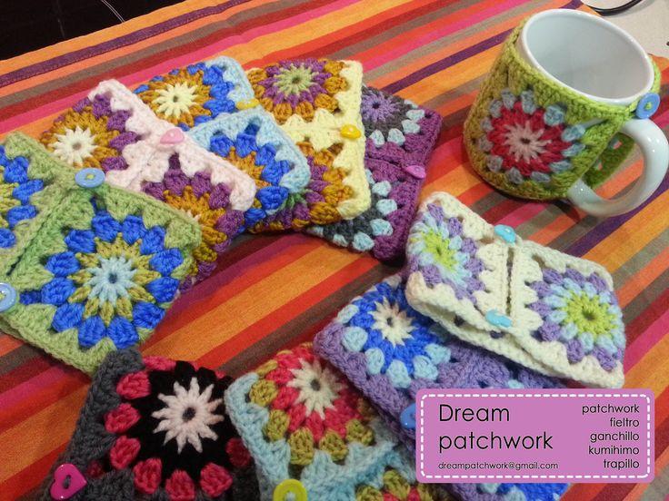 Fundas Para Vasos De Cafe En Crochet