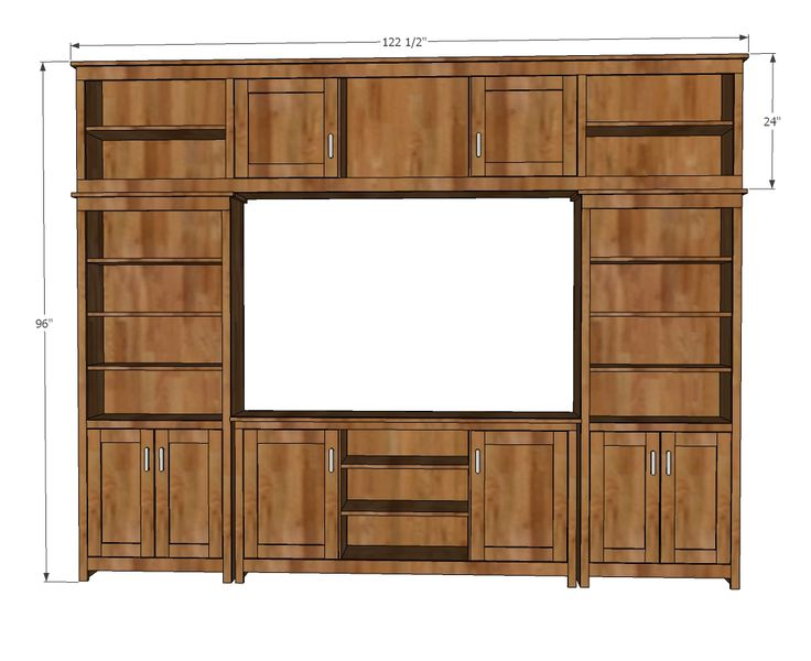 Diy Built In Entertainment Center Plans Woodworking