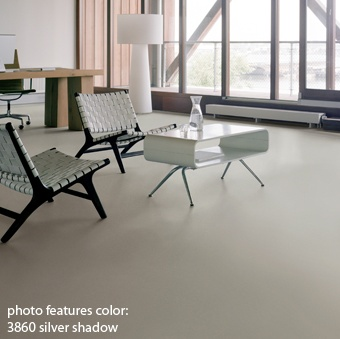 great color lino floor
