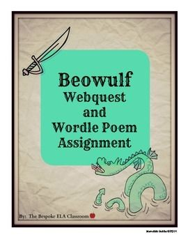 This activity takes students to various websites about the Anglo-Saxons such as The British Library page on Beowulf and the BBC encyclopedia on Anglo-Saxons to answer questions about the information they discover there. As a summation of what they learn about the Anglo-Saxons, students then create a Wordle poem and write a paragraph explanation. You can find this listing included in my MEGA BEOWULF BUNDLE with 25 lessons and activities!