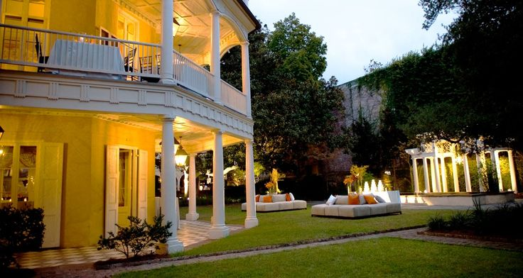 wedding at the William Aiken house in Charleston....love this plantation. So romantic and so much history !!!