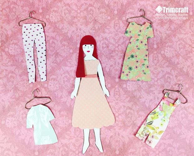 Kids Craft Project Ideas Part - 40: Kids Craft Paper Doll Tutorial With Free Printable Template
