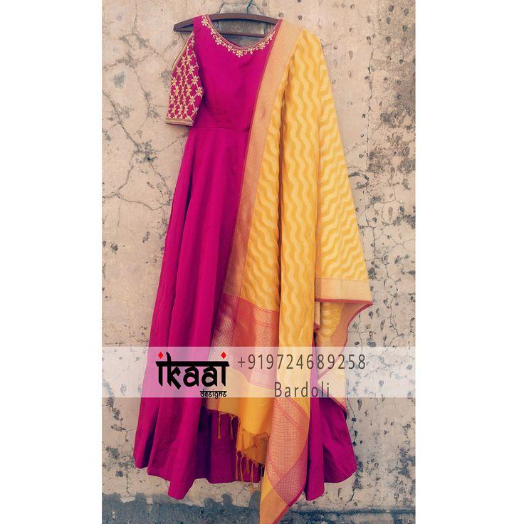 Get This Beautiful Cold Shoulder Anarkali paired with Banarasi Silk Duppta #AnarkaliDress #BanarasiDuppta #BanarasiLove #HandWork #HandWorkStory #HandWorkDesign #HandWorkOnPoint #HandCrafted #HandCraftedLove #HandCraftedStory #HandCraftedInIndia #Instagram #InstaGood #InstaDaily #InstaFashion #Fashionista #Fashion#FashionLove #Designer #DesignerLove #DesignerWear #EthnicWear #IndianClothes #IkaaiFashion #IkaaiFashionStory #IkaaiDaily #IkaaiAtelier #IkaaiDairies #IkaaiDesigns #Bardoli