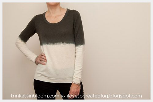 iLoveToCreate Blog: Dip Dye a Wool Sweater