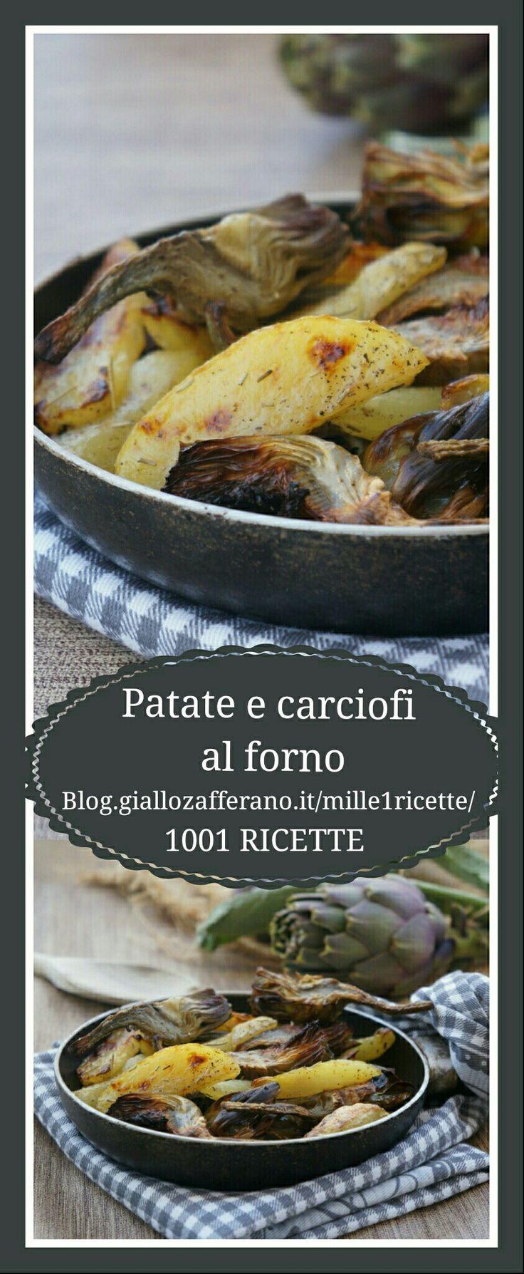 Patate e carciofi cotti al forno  Devi provare assolutamente  Troppo buoni  http://blog.giallozafferano.it/mille1ricette/patate-e-carciofi-al-forno/