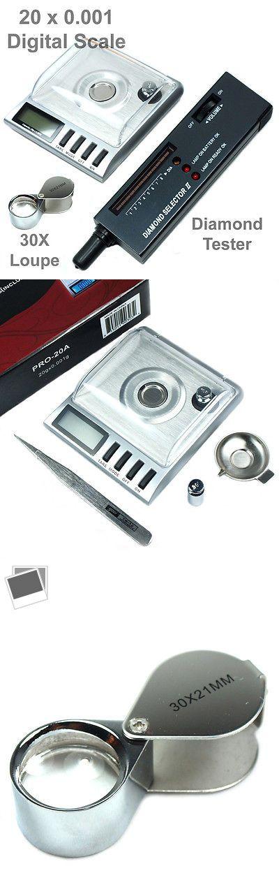 Pocket Digital Scales: Diamond Tool Kit : 20G X 0.001G Digital Jewelry Scale - Diamond Tester - Loupe BUY IT NOW ONLY: $33.79