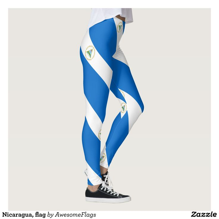 Nicaragua flag leggings : Beautiful #Yoga Pants - #Exercise Leggings and #Running Tights - Health and Training Inspiration - Clothing for #Fitspiration and #Fitspo - #Fitness and #Gym #Inspo - #Motivational #Workout Clothes - Style AND #comfort can both be possible in one perfect pair of custom #leggings. #Nicaragua flag leggings was crafted made with care each pair of leggings is printed before being sewn allowing for #fun and #creative designs on every square inch - Medium weight #fabric…