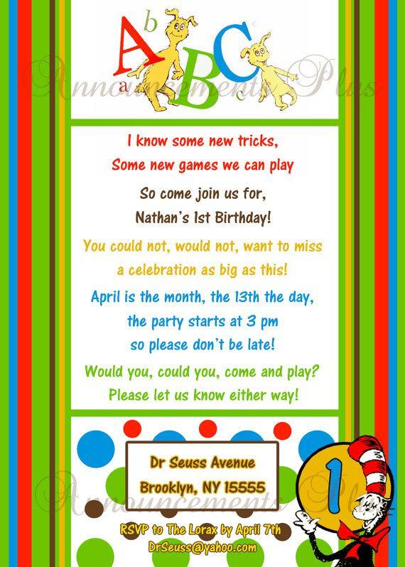 187 best logan's first birthday.. one-derful ideas images on, Birthday invitations
