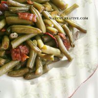 Arkansas Green Beans | Made these for a crowd & everybody loved them. I didn't use as much bacon, nor all of the sauce. Tastes like an Asian side dish.
