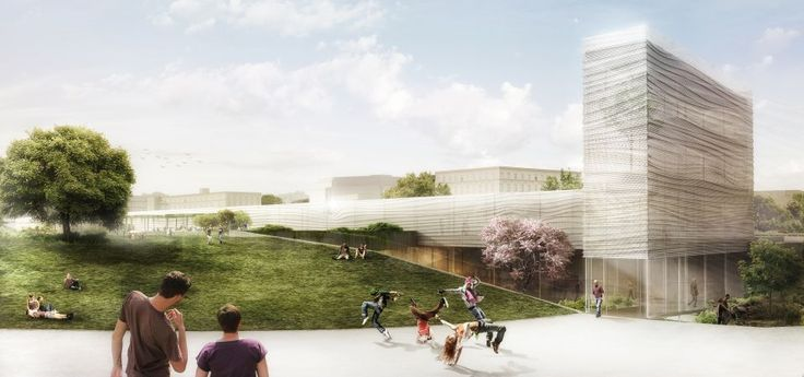 Concept of the 21st Century Garden with the Exhibition Pavilion in Warsaw competition entry by jrk72