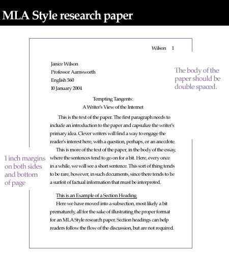 Research papers mla style