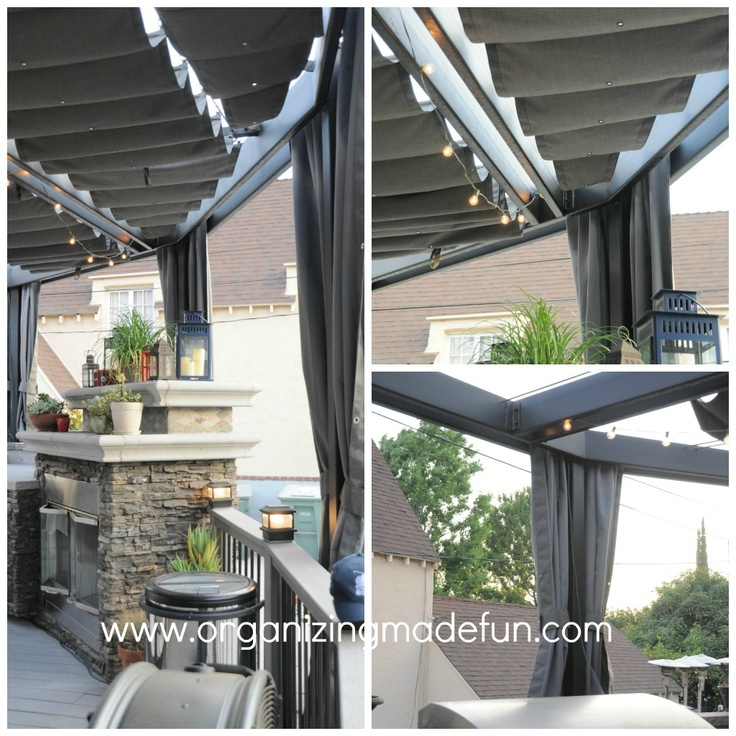 Sliding Patio cover - I so want this for our patio in the worst way.