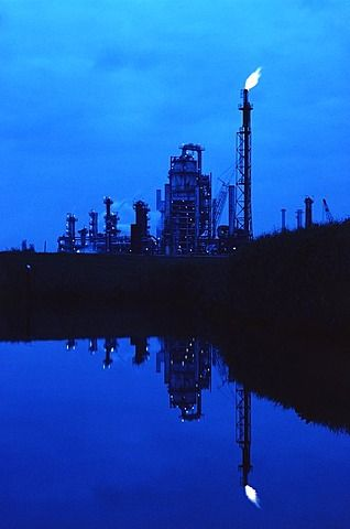 Oil refinery in Baytown, Texas